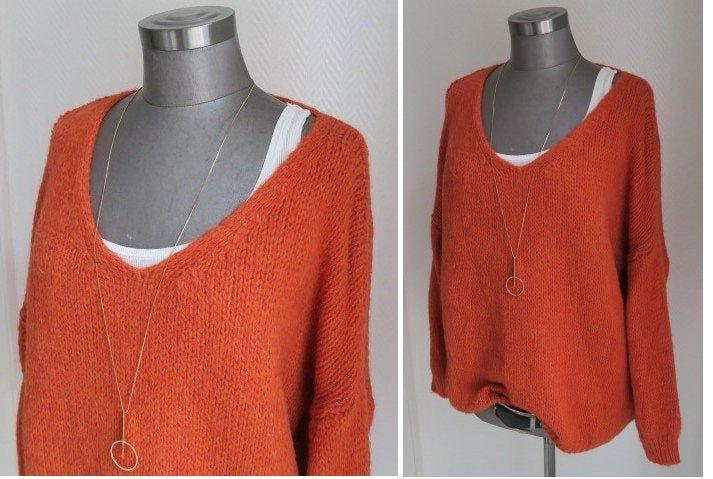 xl oversized pulli neues rost orange, Pulli in rostfarbe
