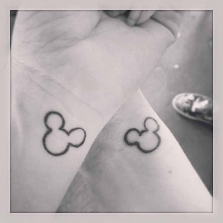 Sister Mickey Mouse tattoos