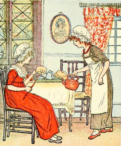 Polly put the kettle on - Mother Goose or The Old Nursery Rhymes, 1881