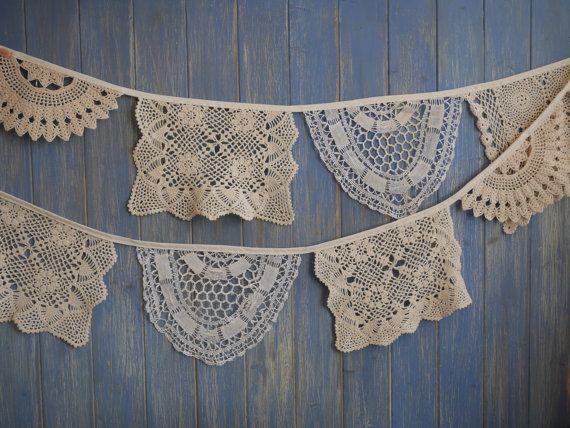 Vintage Deckchen Bunting. Hochzeit Girlanden. von buntingboutique