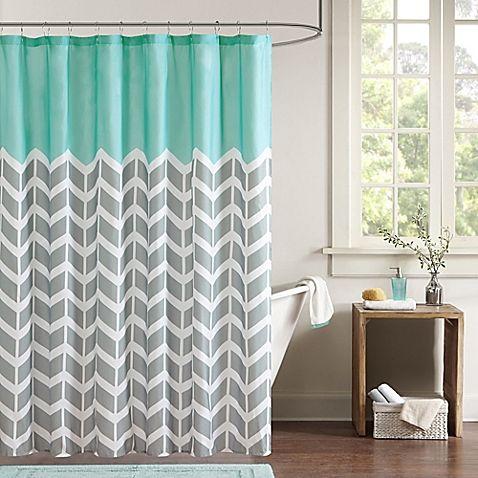 Intelligent Design Nadia Shower Curtain In Teal