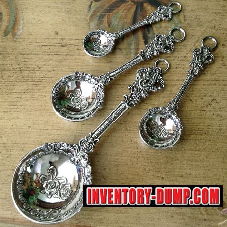 $11.50 - VICTORIAN STYLE Measuring Spoons by Ganz - ER23024 - INVENTORY LIQUIDATION www.inventory-dump.com