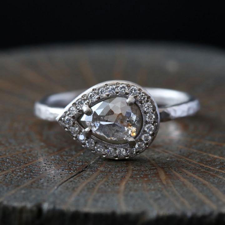 Engagement Rings & Wedding Rings  :   Illustration   Description   Stunning, Handcrafted Yasuko Azuma Engagement Rings ~ 0.66 ct Light Grey-Brown Diamond Ring    - #EngagementsRings