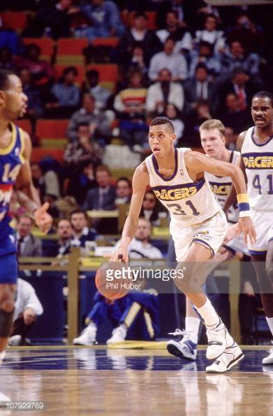 Fotografia de notícias : Indiana Pacers Reggie Miller in action during...