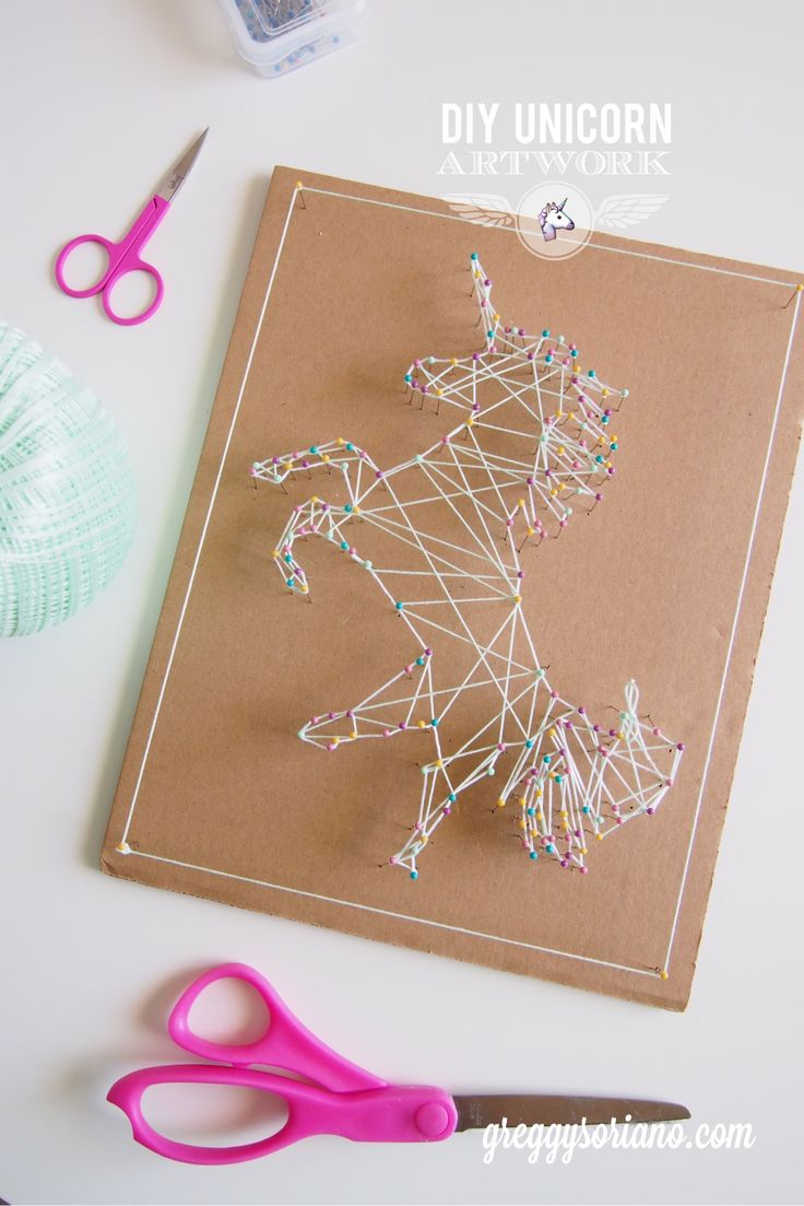 DIY Unicorn Artwork (String Art)