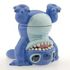 Stitch Cookie Jar. This site has a bunch of Disney cookie jars!! @tattooed6913 ima need this too