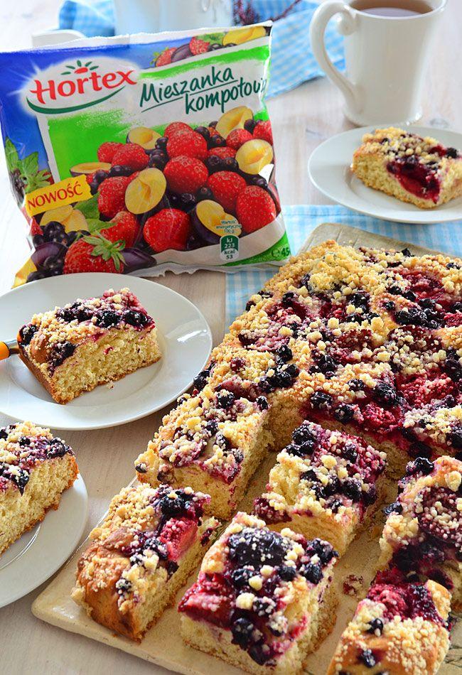 Ciasto drożdżowe z owocami - łyżką mieszane, NIE wyrabiane - MniamMniam.pl