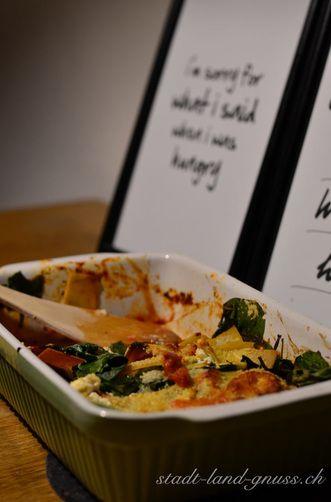 Lasagne mit Spinat - Rezept um Reste zu verwerten