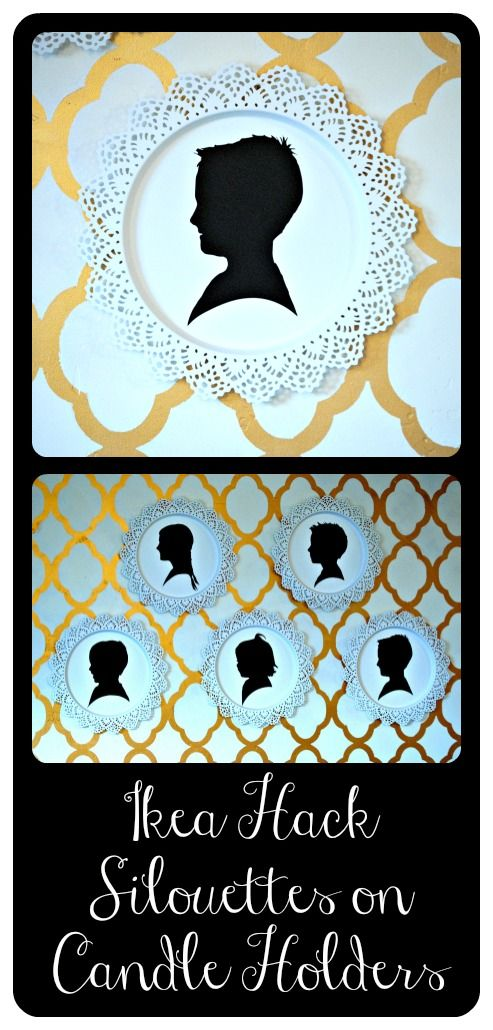 Wall silouette using expressions vinyl and candle dishes from ikea.  Great photo shop tutorial.  Step by step instructions to make your own.