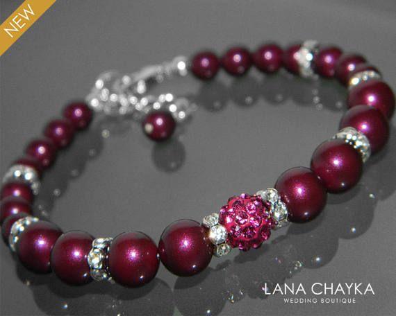 Blackberry Pearl Bracelet Swarovski Pearl Silver by LanaChayka