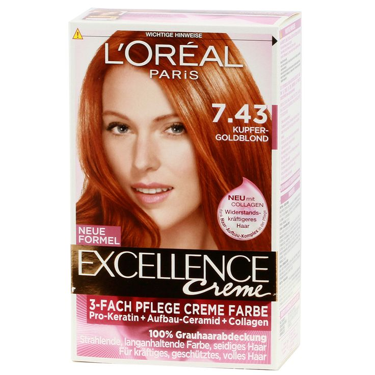 loreal paris excellence cream 743 copper gold blond httpswww - Coloration Excellence