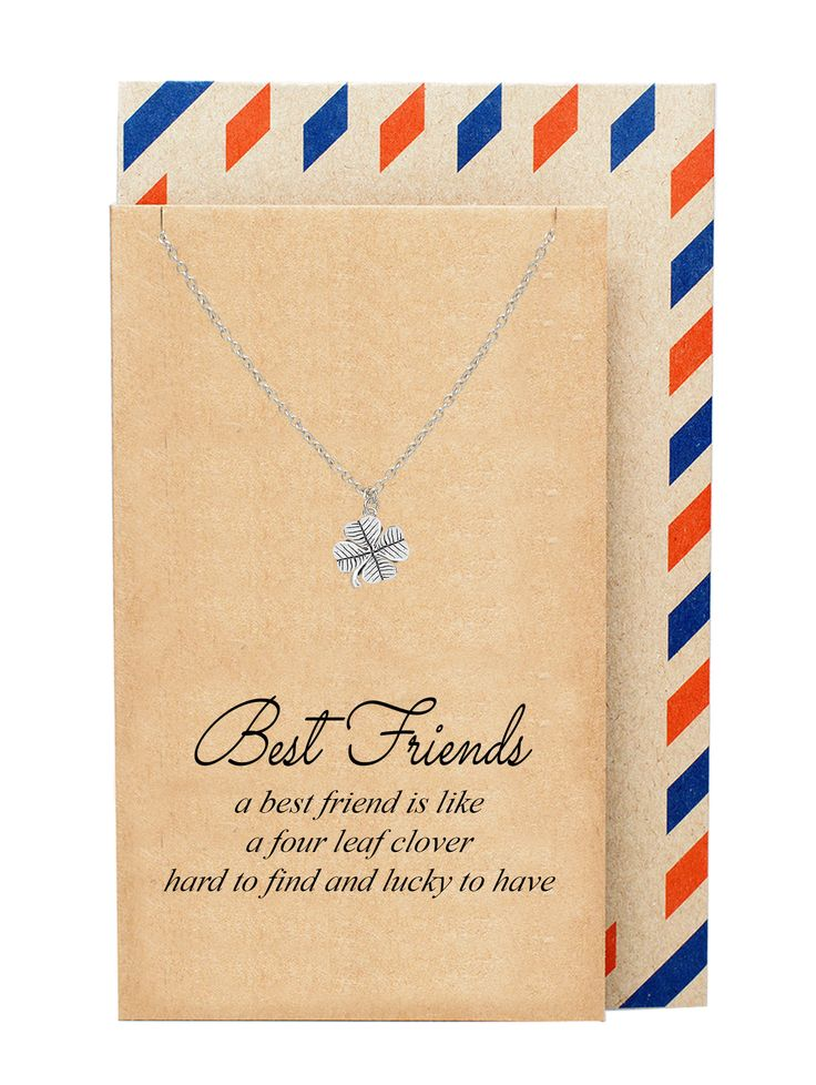 Lia Best Friend Jewelry Dainty Four Leaf Clover Necklace