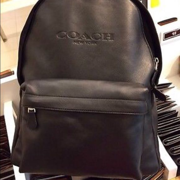 Coach backpack Black leather Coach Bags Backpacks