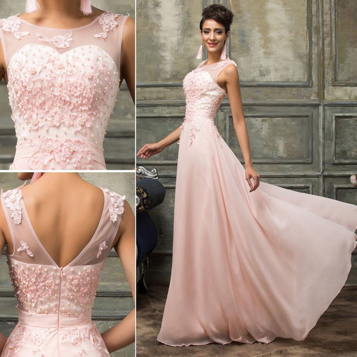 UK Vintage Long Wedding Ball Gown Evening Formal Party Prom Bridesmaid Dresses #GraceKarin #BallGown #Formal