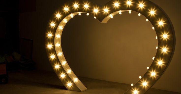 Light up Love Heart Arch for Hire at https://www.lightuplettersbali.com/