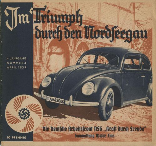 Piece of nazi propaganda with KDF-Wagen