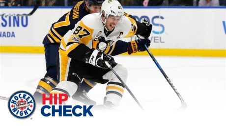 Hip Check: Sidney Crosby scores one-handed in goal of the year candidate