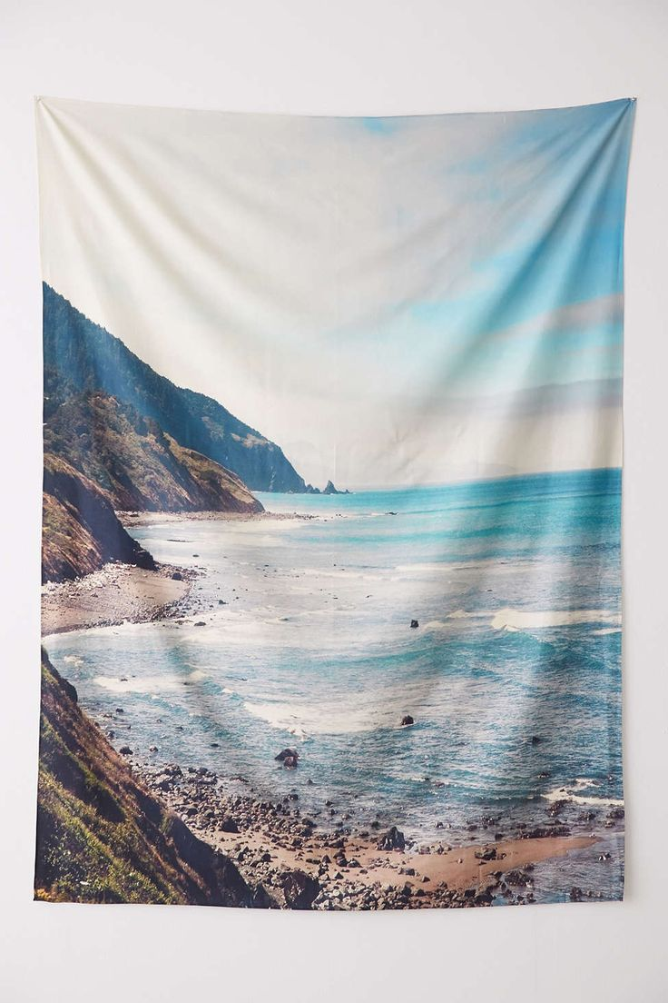 Catherine McDonald For DENY Pacific Coast Highway Tapestry - Urban Outfitters #0cean #sea