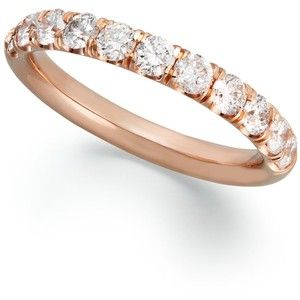rounded diamond band rose gold - Google Search