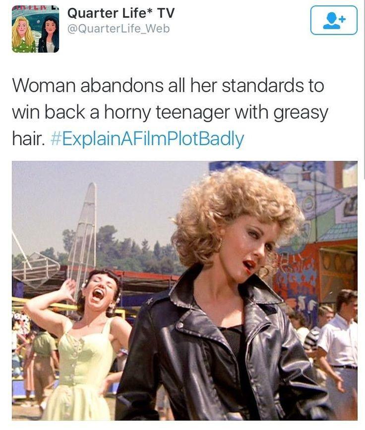 Explain a film plot badly - Grease
