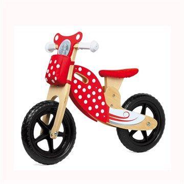 Kit rouge/pois pour premier vélo - Mon premier vélo devient un scooter !  Un kit original pour une draisienne sur mesure Avec des décorations et des accessoires