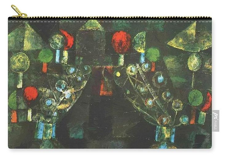 Women Carry-all Pouch featuring the painting Women Pavilion 1921 by Klee Paul