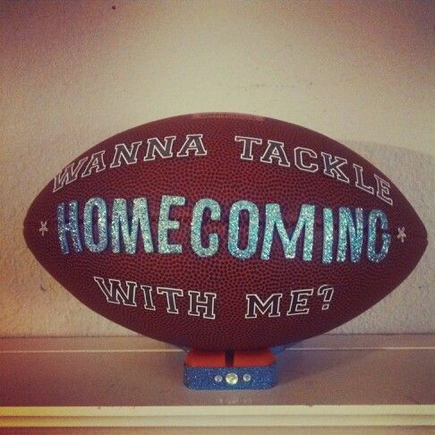 This is what my son made to give the girl he wants to take to Homecoming this year. This is how he asking her to go with him:)