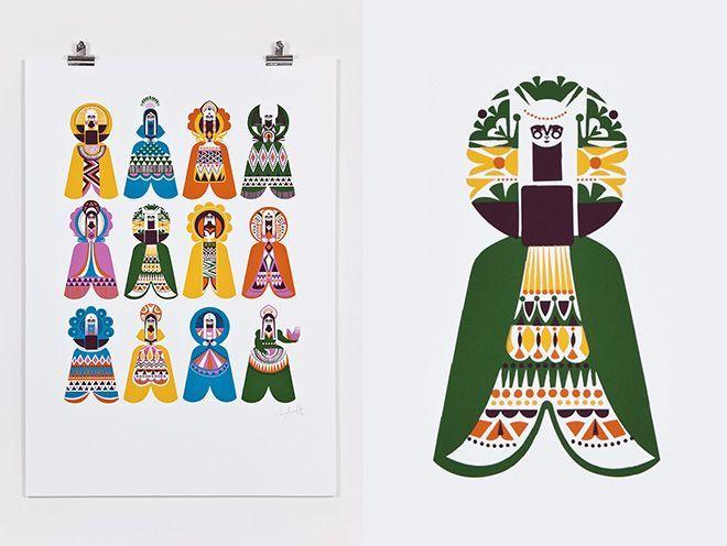 Spirits of the North - Sanna Annukka: Illustration Design Pattern, Graphic Design, Colour, Annukka Print, Sanna Annukka, Arctic Design, Annukka Spirits, Annukka Designs