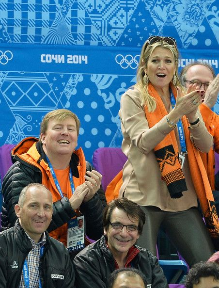 Dutch King Willem-Alexander and Queen Maxima attend the Short Track on day 3 of…