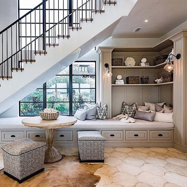 Great use of space! Credit: Coastal Elements Construction #brightlightinterior . . . . #interiordesign #interiordecor #interior #interiorinspiration #inspiration #decor #home #homedecor #homedesign #design #homeinterior #homesweethome #homestyle #designinspiration #house #interiordecorating #interiorinspo #instadecor #diy #styling #interiør #interiorideas #instadesign #dreamhome #stairs #nook #staircase #customdesign