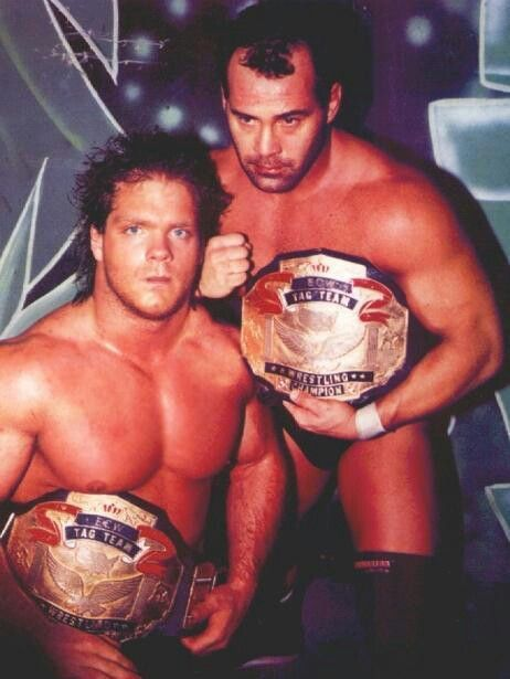 The best wrestlers that ever lived.  ECW Tag Team Champions Chris Benoit and Dean Malenko