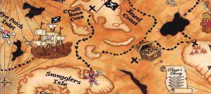 Карта сокровищ для детского праздника. Создаем своими руками