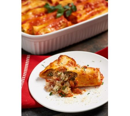 Cheesy Veggie Manicotti by David Venable
