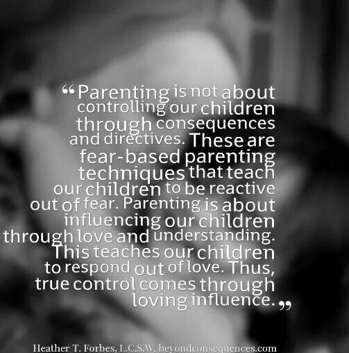 Heather Forbes what parenting is not about: