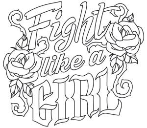 Fight Like a Girl design UTH11525