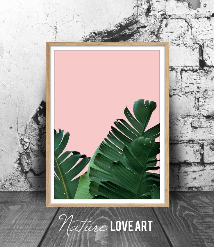 Poster plante, feuille de bananier, décoration tropicale, photo feuilles de bananier, plante exotique, déco murale moderne, impression d'art de la boutique NatureLoveArt sur Etsy