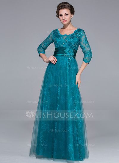 Mother of the Bride Dresses - $176.99 - A-Line/Princess Scoop Neck Floor-Length Tulle Charmeuse Mother of the Bride Dress With Ruffle Lace Beading (008025713) http://jjshouse.com/A-Line-Princess-Scoop-Neck-Floor-Length-Tulle-Charmeuse-Mother-Of-The-Bride-Dress-With-Ruffle-Lace-Beading-008025713-g25713?ver=xdegc7h0