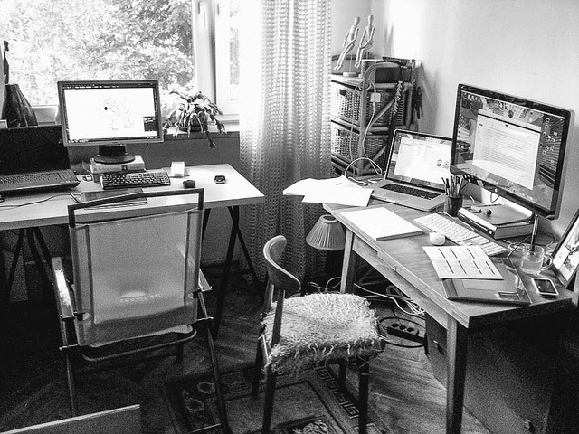 Temporary Warsaw office at granny's place.