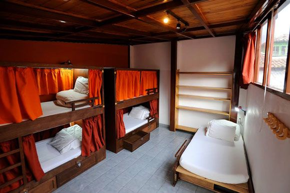 Forget tying your towels to the bunkbed posts to get a bit of privacy - the Masaya International Hostel in Bogota has come up with a (much better smelling) alternative.