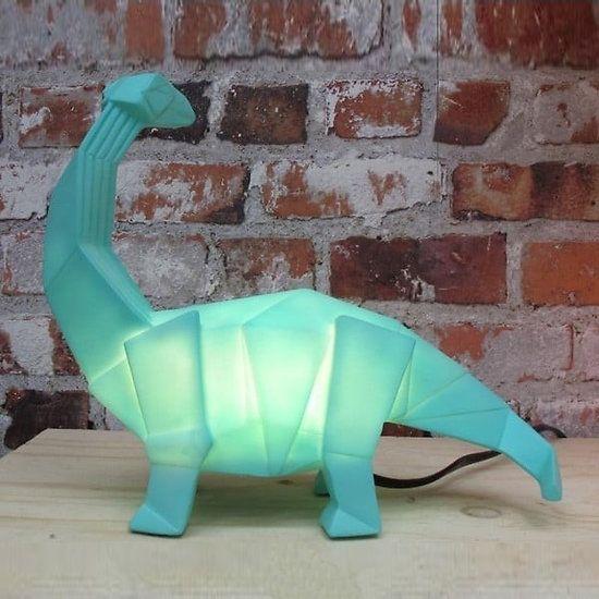 Lampe veilleuse dinosaure origami Diplodocus vert