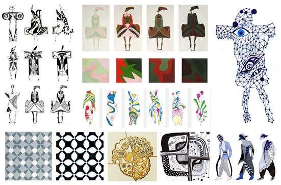 ритмические построения композиции, симметрия и асимметрия, закон контраста, нюанса и тождества
