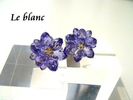 minne(ミンネ)| Classyピアス(purple)[P-0268]