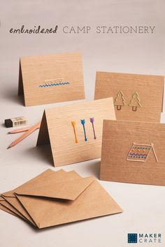 Embroidered Camp Stationery | Maker Crate