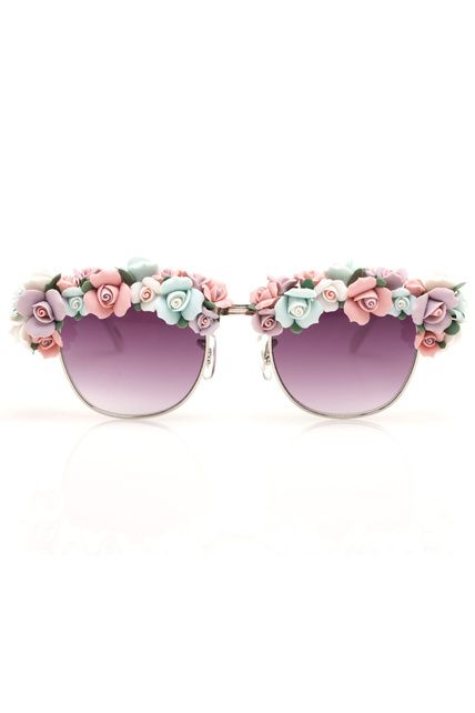 why yes i do need flower encrusted sunglasses