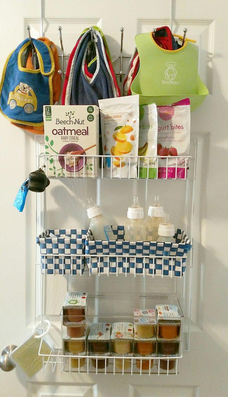 DIY Baby Organization- Pantry Closet- Bibs, Baby food, Bottles, Snacks