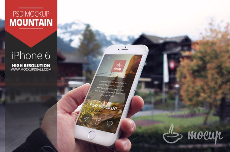 iPhone 6 Mockup Mountain by Mocup, mocup.com on @creativemarket