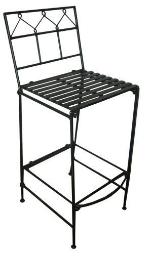 PTC Home & Garden Folding Bar Stool, Pewter by PTC. $122.67. No garden, pool or patio table setting is complete without a set of these versatile Folding Bar Stools and their elegant, comfortable design. For the perfect set up, add a Folding Bar Table to your bar stool order!. Requires no tools for assembly or break down. A product that has been manufactured from recycled wrought iron. With the flip of your wrist this sturdy wrought iron, handmade chair folds completely flat ...