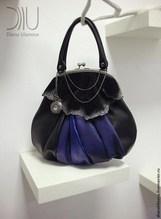 """Купить """"Восточный Экспресс"""" синий - тёмно-синий, Красивая сумка, винтажный стиль, ретро стиль"""