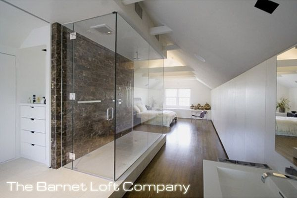 Moderne zolder transformatie by 39 the barnet loft company for Bathroom ideas loft conversion