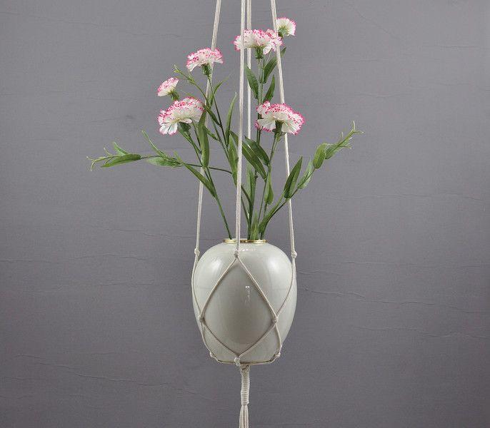 Weiteres - NATUR moderne Blumenampel aus Baumwolle Boho Stil - ein Designerstück von Hallodribums bei DaWanda